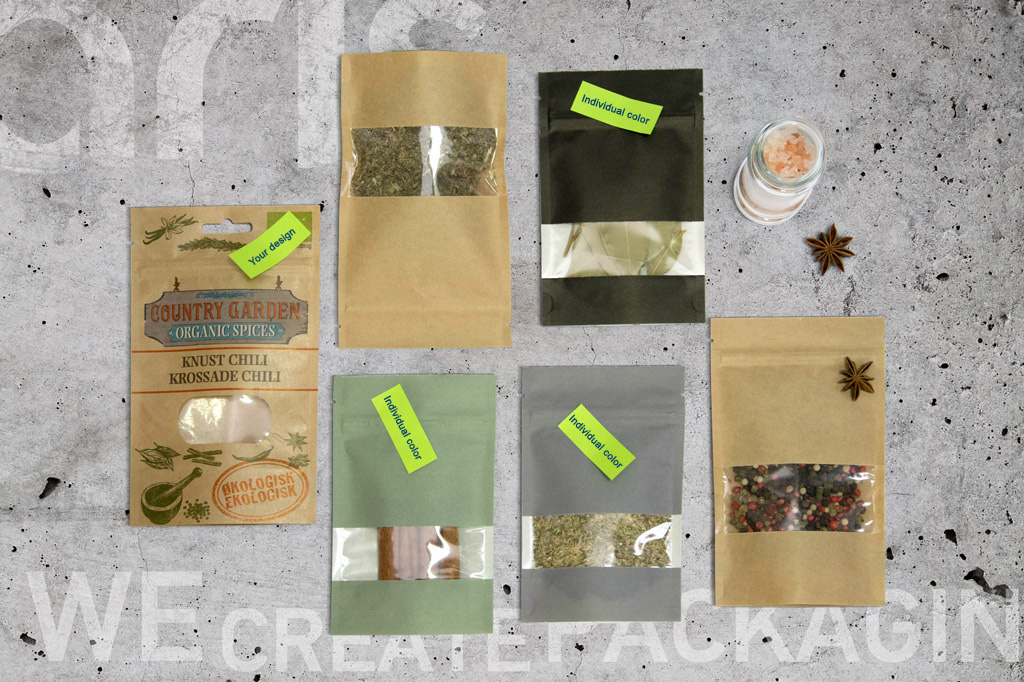 Packages for spices composition